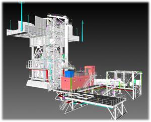 3D electrical design project model in Peru